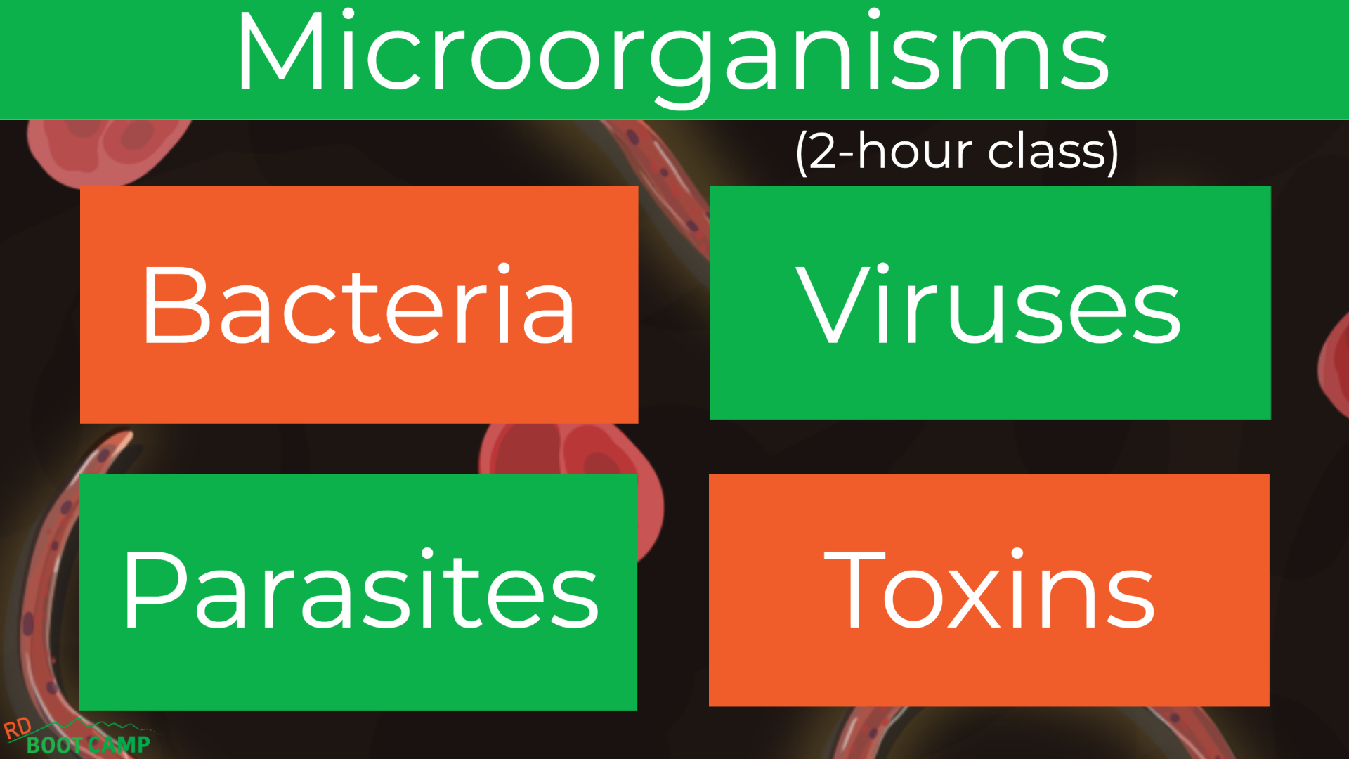 Microorganisms: Bacteria, Viruses, Parasites, and Toxins Explained! (2-hour class) class header